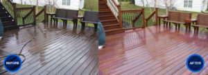 IDW before and after deck cleaning