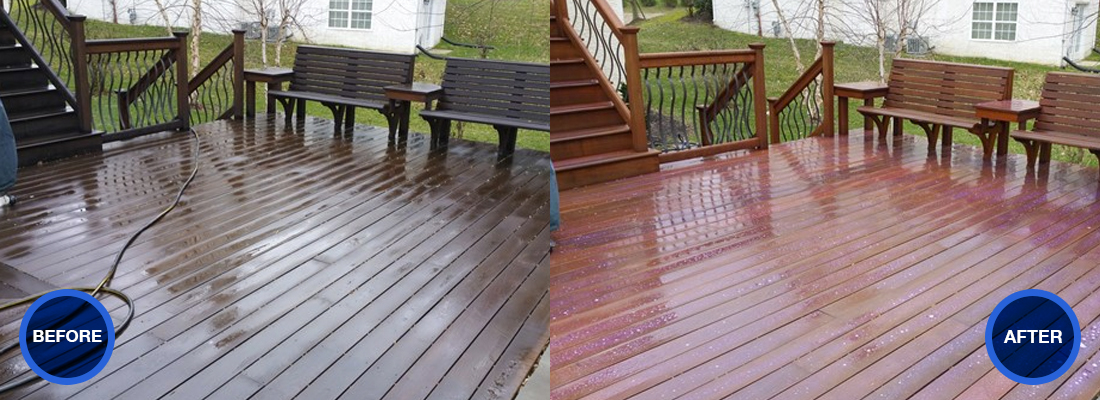 Before after idw deck idw window and roof cleaning for 3999 roof