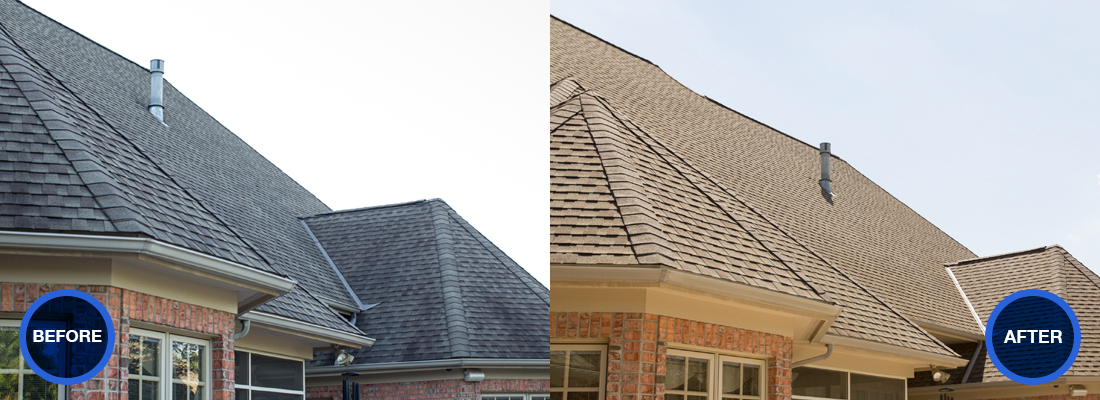 Before and after gallery idw window and roof cleaning for 3999 roof
