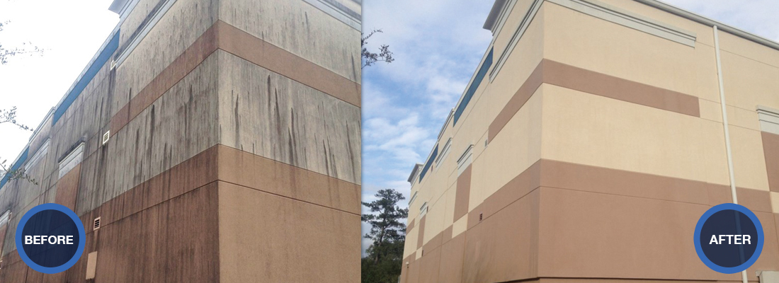 IDW provides exterior cleaning services for commercial buildings