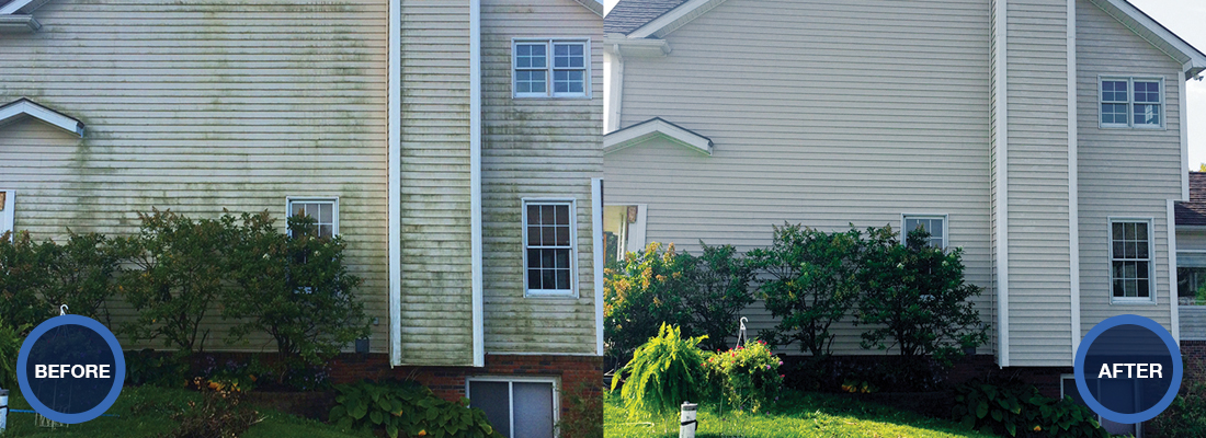 residential exterior cleaning by IDW