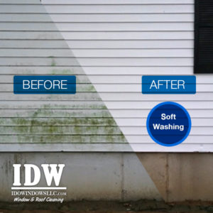 Exterior Washing IDW before and after siding